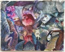 Κολάζ Μαρίνα Μόσχα, Μαρίνα Μόσχα Κική Δημουλά, Κική Δημουλά, έχνη, ζωγραφική, Μαρίνα Μόσχα, Δημήτρης Σκλείδης, Ομάδα,